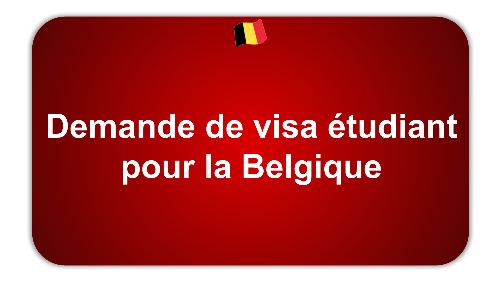 Demande de visa pour la Belgique