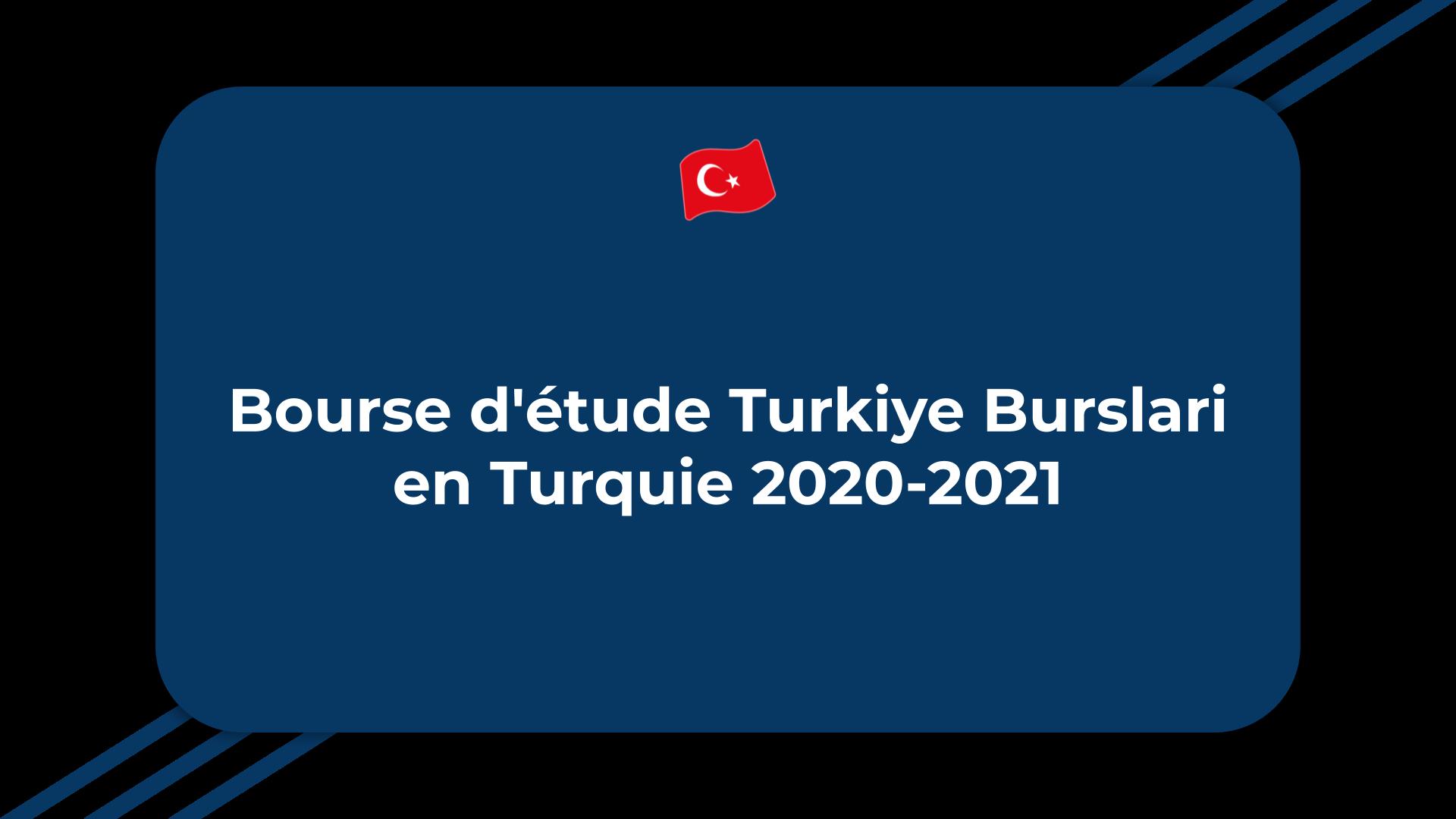 Bourse d'étude Turkiye Burslari