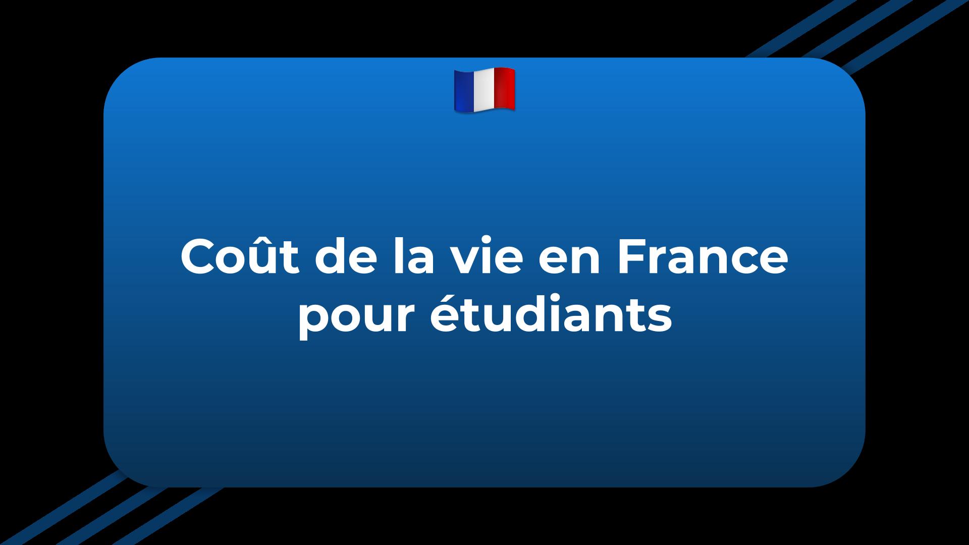 Coût de la vie en France