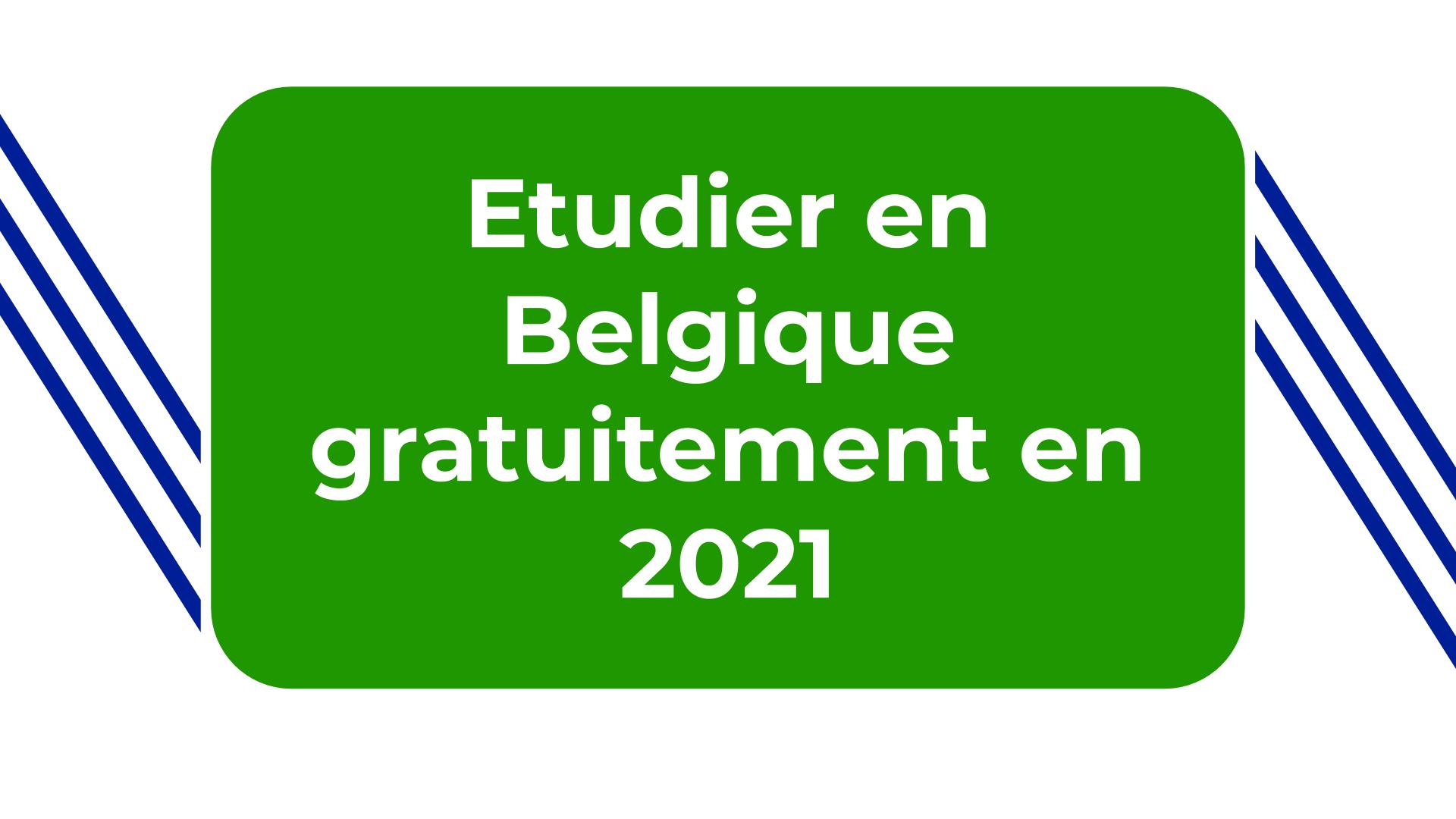 Etudier en Belgique gratuitement