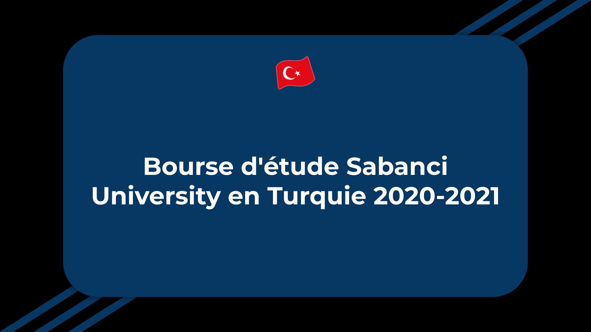 Bourse d'étude Sabanci University
