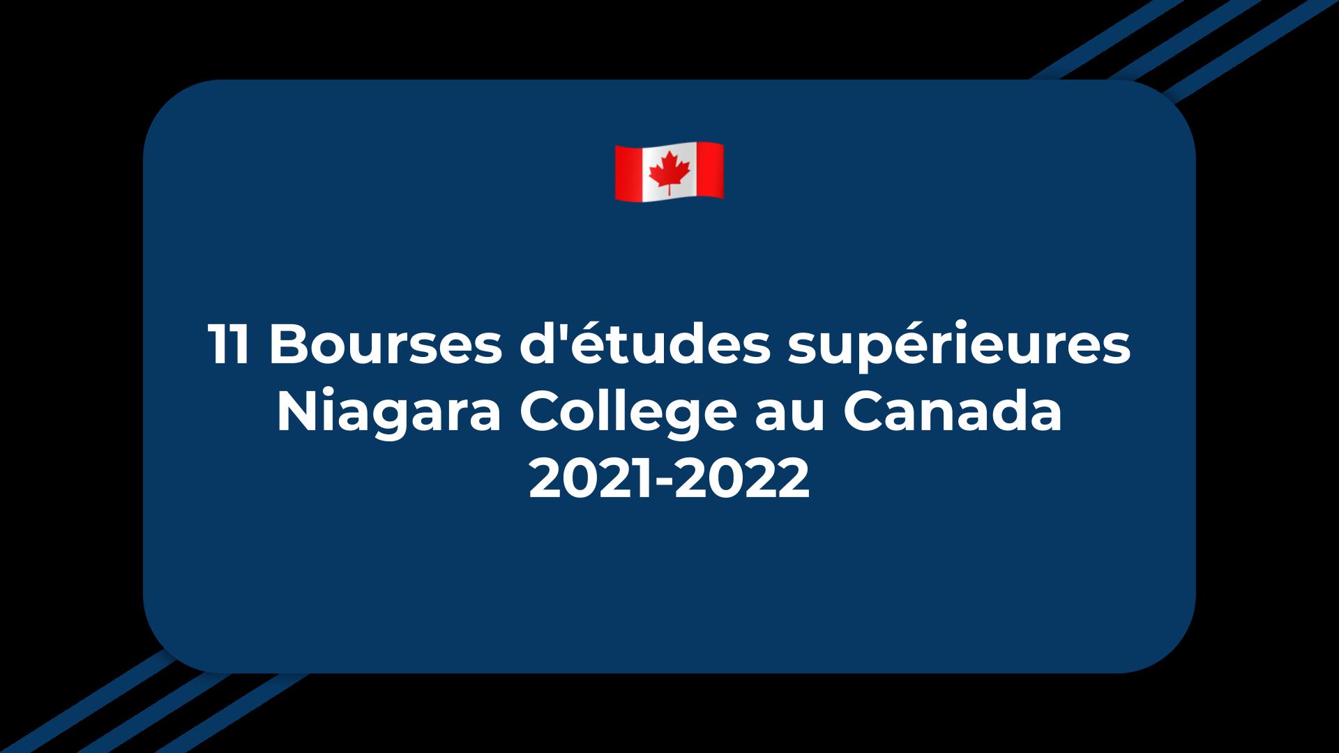 11 Bourses d'études supérieures Niagara College