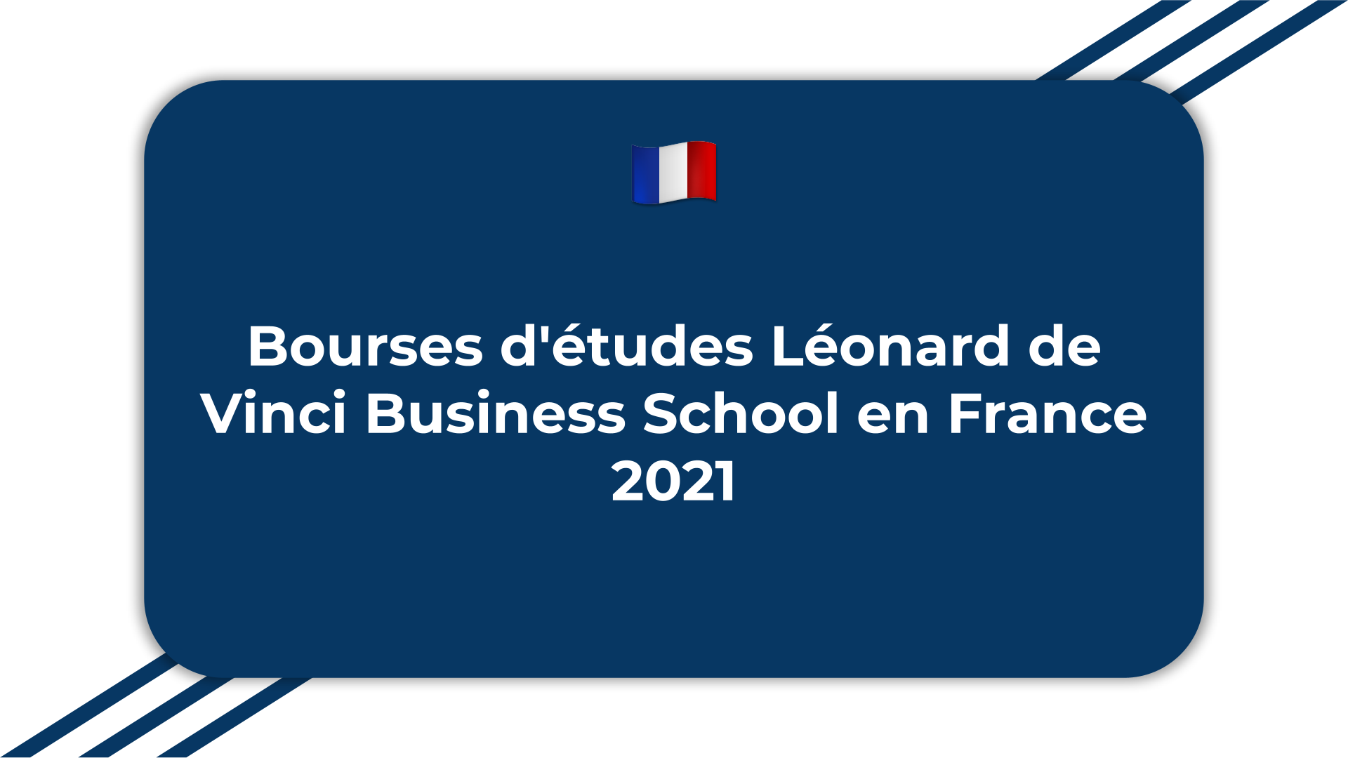 Bourses d'études Léonard de Vinci Business School