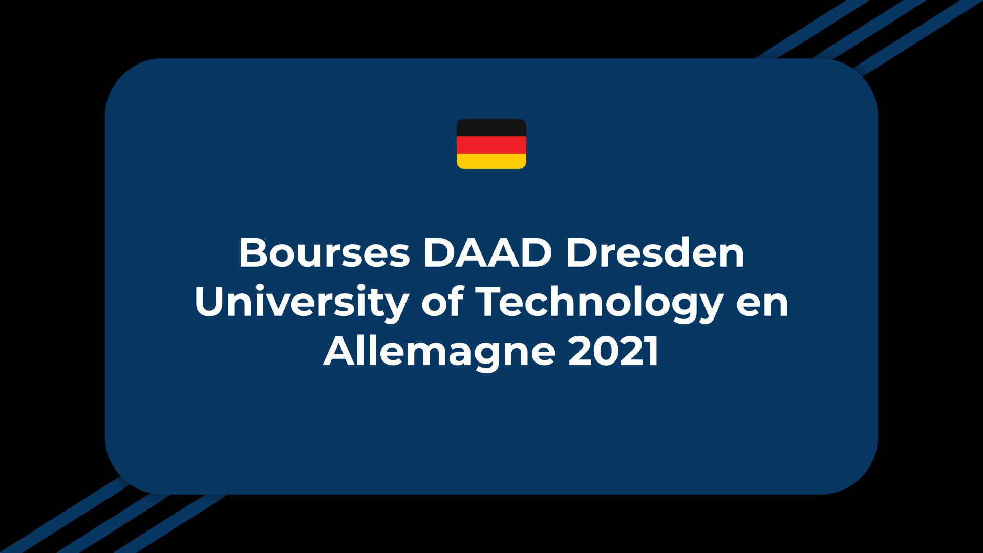 Bourses DAAD Dresden University of Technology