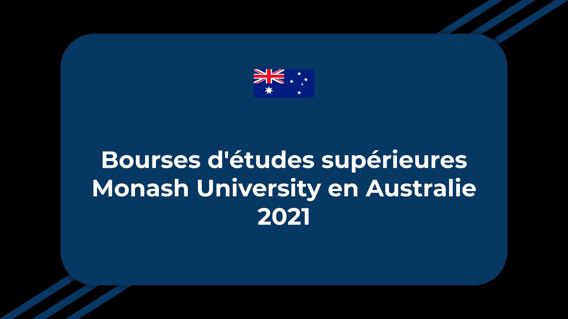 Bourses d'études supérieures Monash University